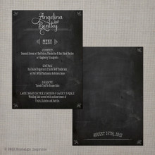 Wedding Menu - Vintage Chalkboard 1