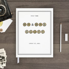 vintage typewriter wedding guest book guestbook
