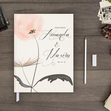 watercolor flower wedding guest book guestbook gb0065 dandelion