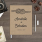 tie the knot rustic wedding guest book guestbook gb0070