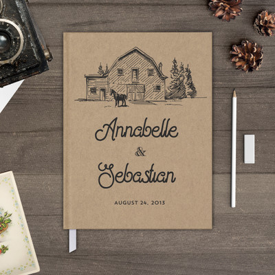 farmhouse rustic wedding guest book guestbook gb0071