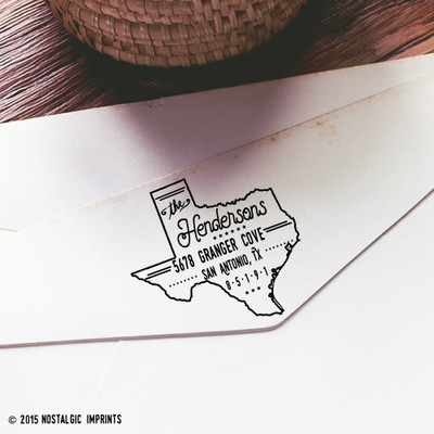 Texas self inking return address stamp