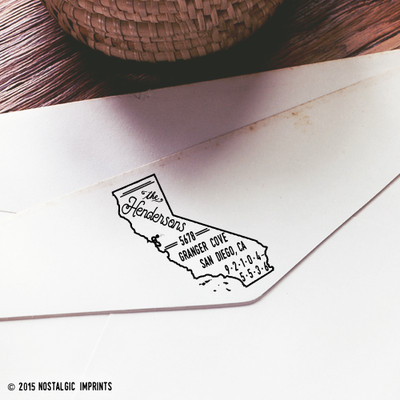California self-inking return address stamp