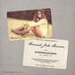 Hannah - 4x6  Vintage Graduation Invitation Announcement card