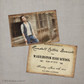 Randall - 4x6  Vintage Graduation Invitation Announcement