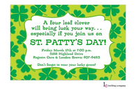 Clover Field St. Patrick's Holiday Party Invitation