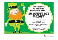 Leprechan St. Patrick's Holiday Party Invitation