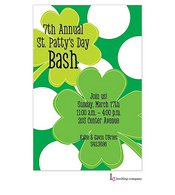 Big Clovers St. Patrick's Holiday Party Invitation