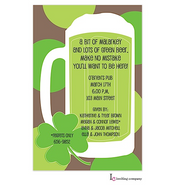 Green Beer St. Patrick's Holiday Party Invitation
