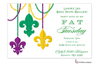 Beads & Fleur Mardi Gras Party Invitation