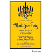 Mardi Gras Flair Mardi Gras Party Invitation