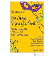 Mask Glitz Mardi Gras Party Invitation