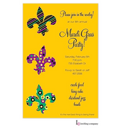 Fleur Stack Mardi Gras Party Invitation