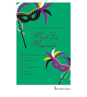 Masks Mardi Gras Party Invitation