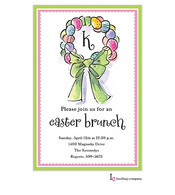 Easter Wreath Easter Holiday Party Invitation