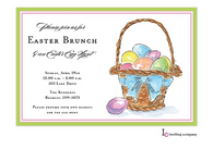 Spring Basket Easter Holiday Party Invitation