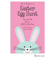 Peeking Bunny Easter Holiday Party Invitation