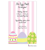 Egg Stripe Easter Holiday Party Invitation