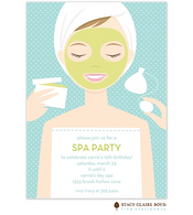 Spa Girl Party Invitation