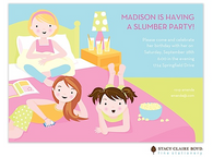 My Sleepover Kids Party Invitation