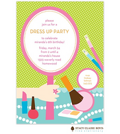 All Dressed Up Kids Party Invitation