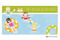 Cool By The Pool Kids Party Invitation