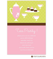 Tea Time Kids Party Invitation