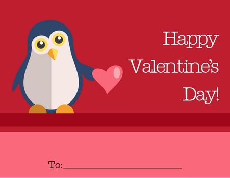 Penguin Valentine's Card
