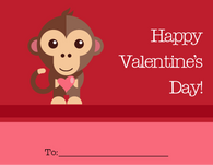 Monkey Valentine's Card