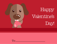 Cute Dog Kid's Valentine's Card