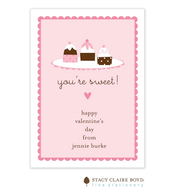 You're Sweet Valentine Flat Card