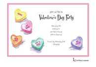 Candy Hearts Invitation