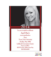 Custom Colors Upper Third Digital Graduation Announcement