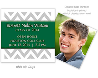 Chevron Green Wrap Digital Photo Calling Card