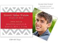 Chevron Red Wrap Digital Photo Calling Card