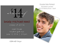 Class of Modern Gray Digital Photo Calling Card