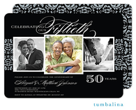 Anniversary Damask Digital Photo Invitation