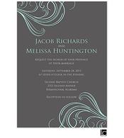 Gray and blue wedding invitation