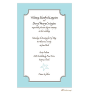 Seafoam Blue Starfish Invitation