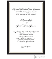 Timeless Border Black & Gold Invitation