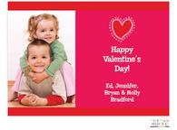 Hot Pink Typewriter Valentine Digital Photo Card