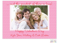Pink Pattern Valentine Digital Photo Card