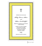 Antique Bead Border Black & Butter Invitation