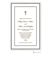 Antique Bead Border Chocolate Invitation
