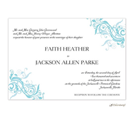 Aqua Blue Vine Invitation