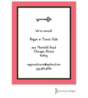 Coral Edge & Black Border Invitation