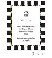 Fun Stripes Black Invitation