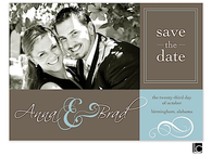Blue and brown Digital Photo Save The Date