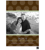 Brown polka-dotted Digital Photo Save The Date