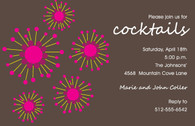 Bursts Custom Invitation
